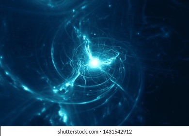 Abstract blue energy field background