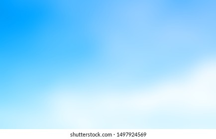 Abstract blue gradient wallpaper, blue sky, modern landscape design for a beautiful blurred background And place the letters