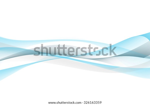 Abstract Blue Gray Waves White Background Stock Illustration