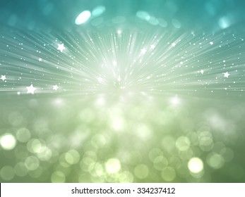 abstract blue and green background. explosion star.