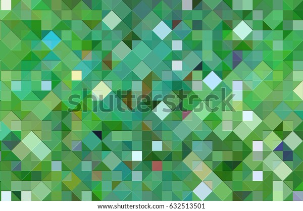 abstract blue and green background with mosaic. illustration digital.