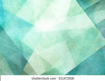 abstract blue green background with textured transparent squares in random layers