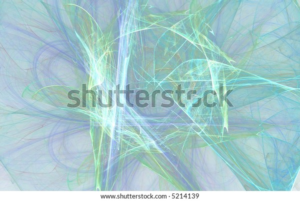 abstract blue green flame on the white background