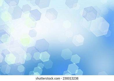 Abstract blue honeycomb background with bokeh effect. From series backgrounds and textures