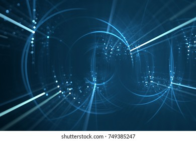 Abstract blue light rays background