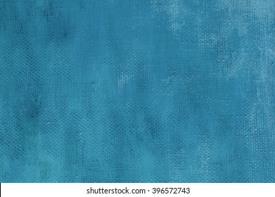Abstract blue oil painting background  with brush strokes on canvas. Art concept.