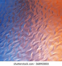 Abstract blue and orange
