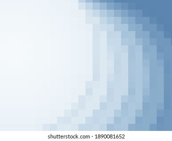 Abstract blue pixel background frame with empty space for text.