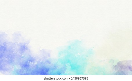Abstract blue purple watercolor background