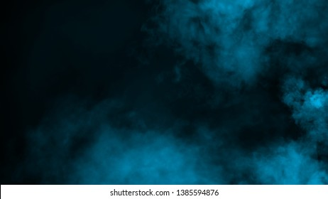Abstract blue smoke mist fog on background. Texture background for graphic and web design.