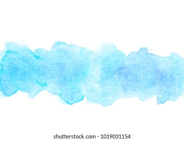 abstract blue water color splash stroke background.by drawing for text image