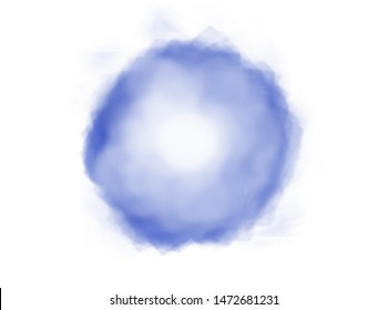 Abstract blue watercolor background. Illustration digital. Round shapes for design / pattern