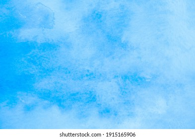 Abstract blue watercolor background texture