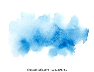 abstract blue watercolor background.shades colorful on white paper