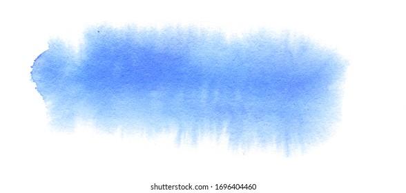 Abstrait à l'aquarelle bleu sur fond blanc