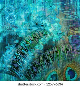 abstract  blue wave sea design