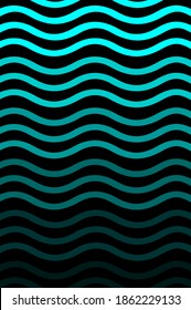 abstract blue waves gradient style on black background