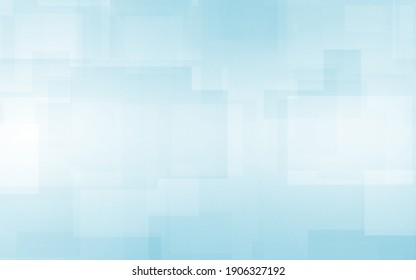Abstract blue white and gray polygon square pattern gradient background. with space for concept design Technology and modern. 3d render illustration.