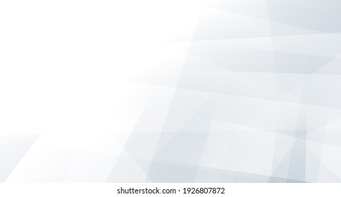 Abstract blue white and gray polygon triangle pattern gradient background. 3d render illustration.