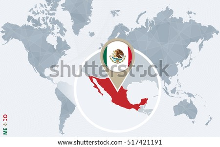 Royalty Free Stock Illustration of Abstract Blue World Map Magnified ...