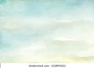 Abstract blue and yellow watercolor background in high resolution