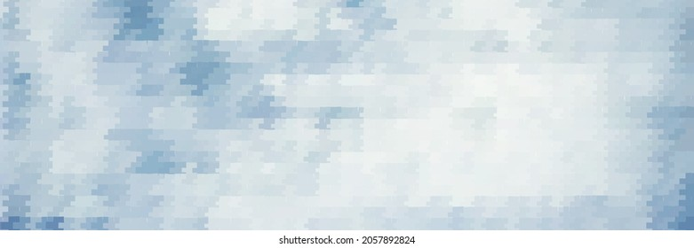 Abstract bluish grey geometric mosaic pattern. Tiled raster graphic background
