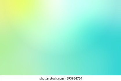 Abstract blur background of yellow to blue color. Spring sky matte background.
