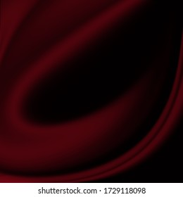 Abstract blur image red fabric curve on background