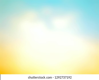 Abstract blurred beautiful bright colorful background. Soft color backdrop. Template use for summer, wallpaper, presentation, flyer, banner, cover, paper. Defocused illustration, Display your product