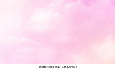 Abstract blurred beautiful soft cloud background with a pastel multicolored gradient concept for wedding card design or presentation
