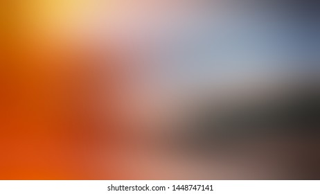 Abstract blurred gradient background. Web banner for your design. Festive background. Orange, brown, blue.