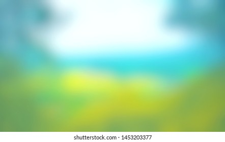Abstract blurred green bright background. Nature backdrop. Environment concept. use for advertise design, cosmetic, beauty, health, summer, banner, poster. Display your product. Defocused illustration