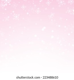 Abstract blurred light on light pink background. Christmas background.