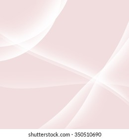 Abstract blurry Rose Quartz colored background with lines and curves. Soft simple pink spring background.