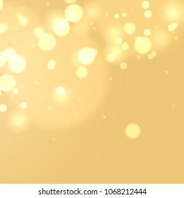 Abstract bokeh background, warm bokeh background, blurred lights, summer bokeh illustration. Summer background.