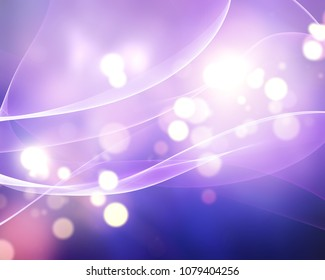 Abstract bokeh lights background with flowing lines