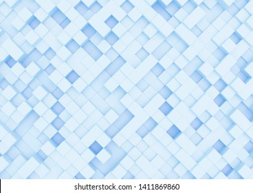 abstract boxes.abstract box background. 3D illustration.