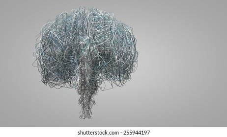 Abstract Brain Wire