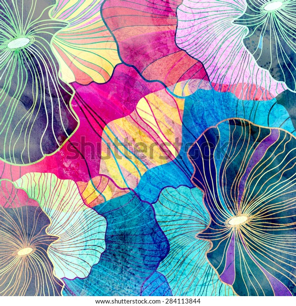 abstract bright background with different elements