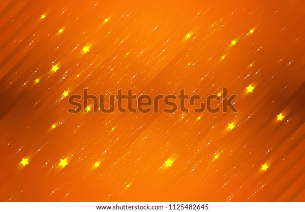 Abstract bright glitter orange background. romantic illustration
