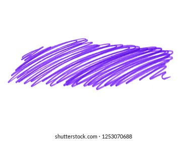 Abstract bright lilac touches texture isolated on white background