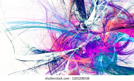 Abstract bright multicolor motion composition. Modern futuristic dynamic background. Smoke color pattern. Fractal artwork for creative graphic design