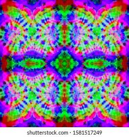 Abstract bright neon pattern. Seamless pattern