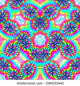 Abstract bright neon pattern. Seamless background pattern.