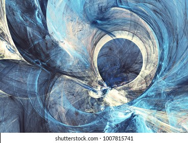 Abstract bright painting motion composition. Modern futuristic dynamic background. Blue color artistic pattern of paints for interior, cover album, booklet. Fractal artwork for creative graphic design