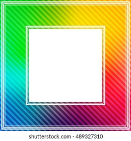 Abstract bright rainbow colorful border.