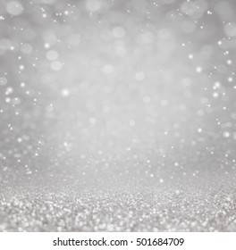 Abstract of Bright and sparkling background with bokeh-blurred lighting from glitter texture. Luxury design background.