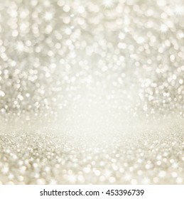 Abstract of Bright and sparkling bokeh background.  bokeh -blurred lighting from glitter texture. Luxury design background.
