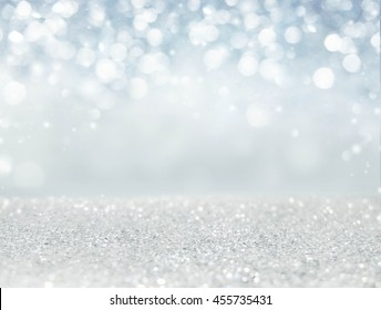Abstract of Bright and sparkling bokeh background. blue diamond bokeh -blurred lighting from glitter texture. Luxury design background.