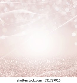 Abstract of Bright and sparkling bokeh background. bokeh-blurred lighting from glitter texture. Luxury design background.